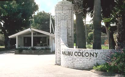 Malibu Colony Entrance